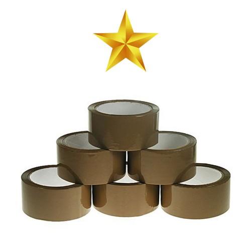 Polypropylene Hot Melt 25 Micron Packing Tape - 48mm x 132m - Buff - Box of 72