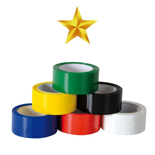 Polypropylene Value 25 Micron Packing Tape - Black/Blue/Green/Lilac/Orange/Pink/Red/Yellow - Box of 36