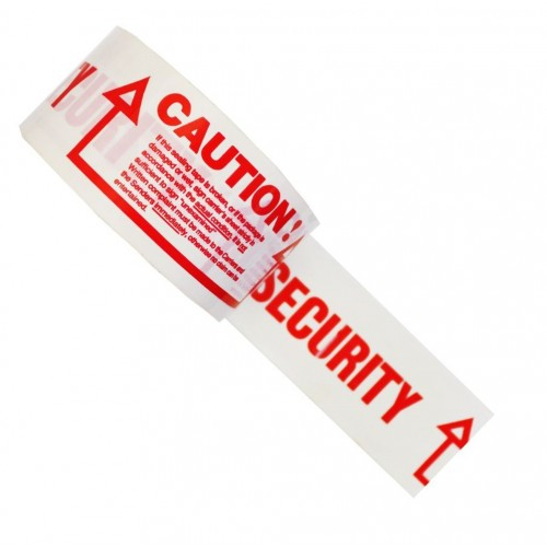 Security Damaged Packaging Warning - PVC Packing Tape