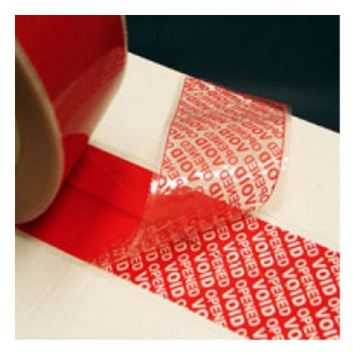 Tamper Evident / Proof Security Warranty Void Tape - 25mmx50m Red