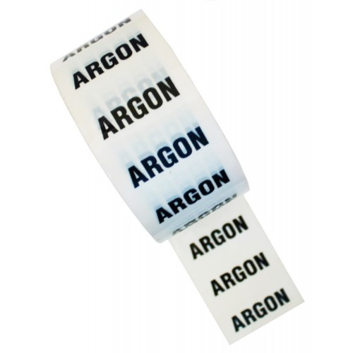 ARGON - White Printed Pipe Identification (ID) Tape
