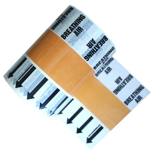 BREATHING AIR - Banded Pipe Identification (ID) Tape