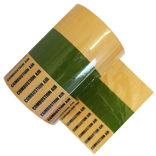 COMBUSTION AIR - Banded Pipe Identification ID Tape