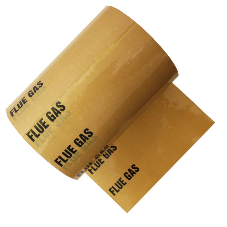 FLUE GAS - Colour Printed Pipe Identification (ID) Tape