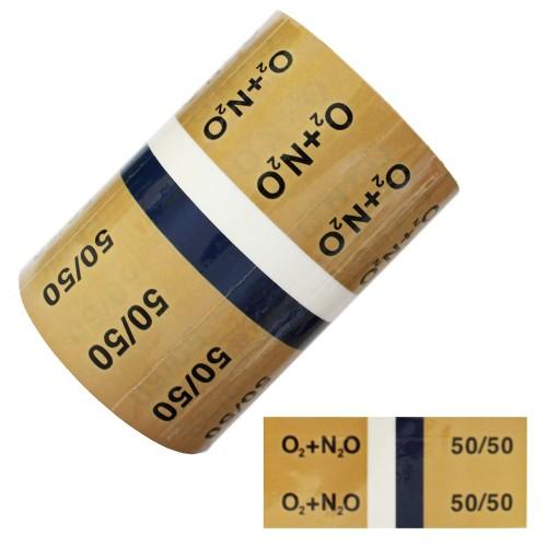Entonox Nitrous Oxide + Oxygen 50/50 - BS1710:2014 Medical Pipe Identification (ID) Labels