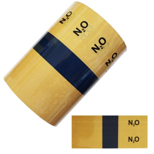 Nitrous Oxide - BS1710:2014 Medical Pipe Identification (ID) Labels