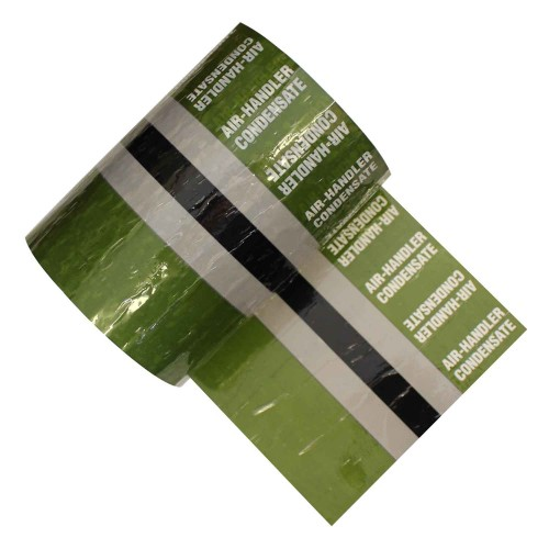 AIR-HANDLER CONDENSATE (144mm) - Banded Pipe Identification (ID) Tape