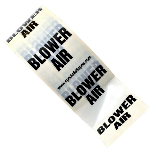 BLOWER AIR - White Printed Pipe Identification (ID) Tape