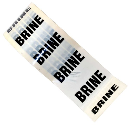 BRINE - White Printed Pipe Identification (ID) Tape