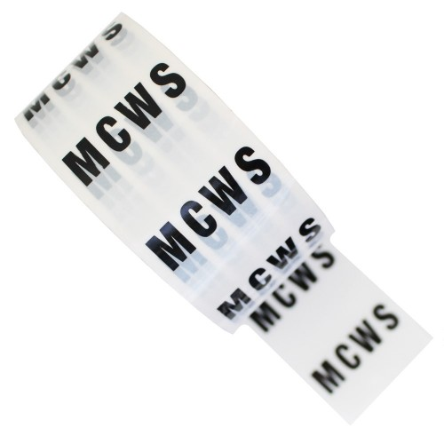 MCWS - White Printed Pipe Identification (ID) Tape