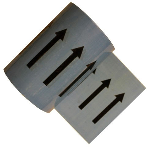 Arrows on Grey - Colour Printed Pipe Identification (ID) Tape