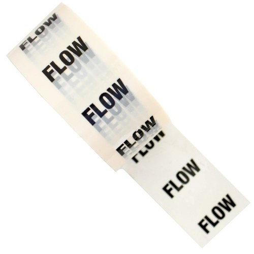 FLOW - White Printed Pipe Identification (ID) Tape