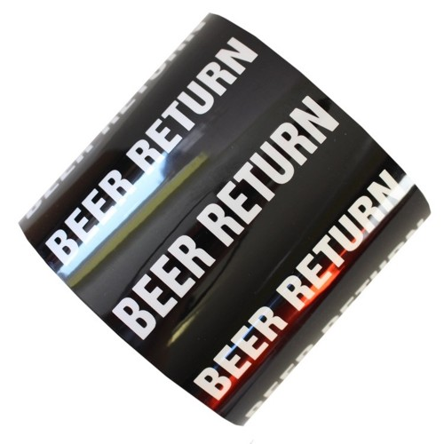 BEER RETURN - All Weather Pipe Identification (ID) Tape