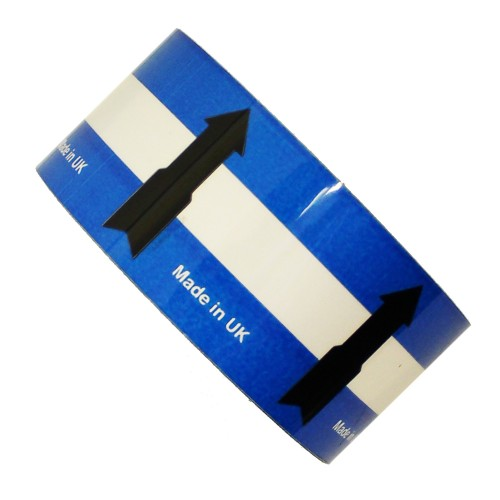 Arrows on Blue / White - All Weather Pipe Identification (ID) Tape