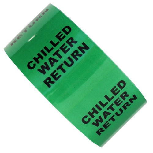 CHILLED WATER RETURN - All Weather Pipe Identification (ID) Tape