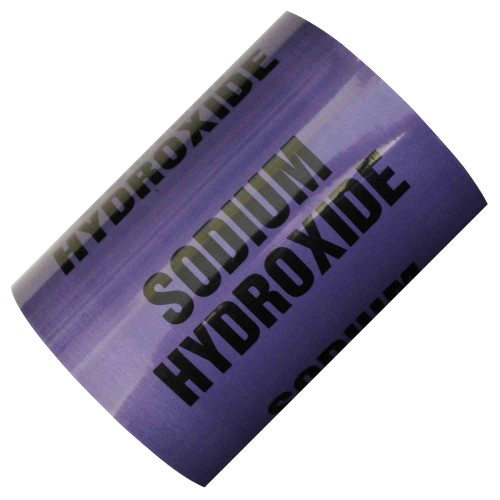 SODIUM HYDROXIDE (150mm) - All Weather Pipe Identification (ID) Tape