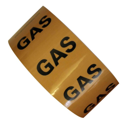 GAS (50mm) - All Weather Pipe Identification (ID) Tape