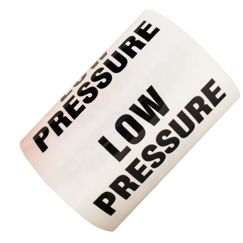 LOW PRESSURE - All Weather Pipe Identification (ID) Tape