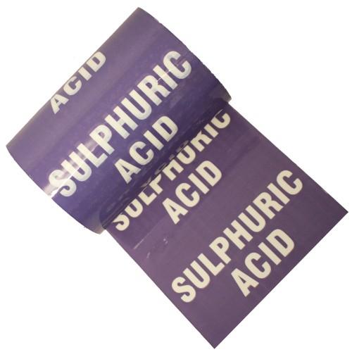 SULPHURIC ACID - Colour Printed Pipe Identification (ID) Tape