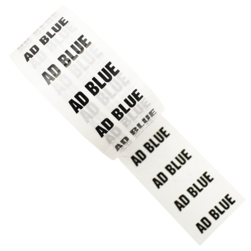 AD BLUE - White Printed Pipe Identification (ID) Tape