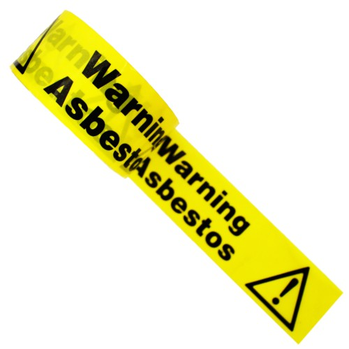 WARNING ASBESTOS HAZARD - Colour Printed Pipe Identification (ID) Tape
