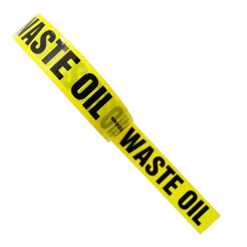 WASTE OIL - Colour Printed Pipe Identification (ID) Tape