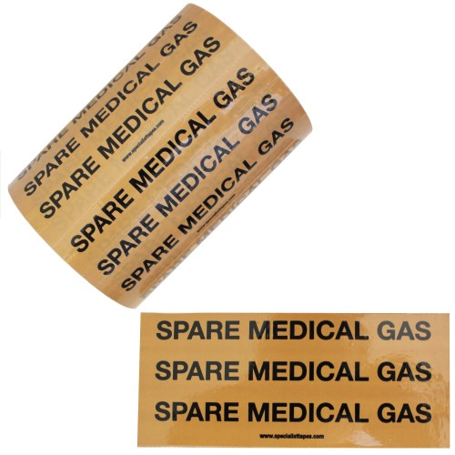 SPARE MEDICAL GAS - Pipe Identification (ID) Labels