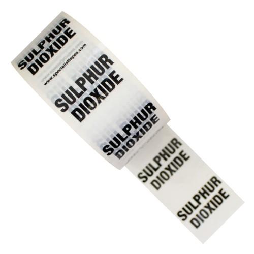 SULPHUR DIOXIDE - White Printed Pipe Identification (ID) Tape