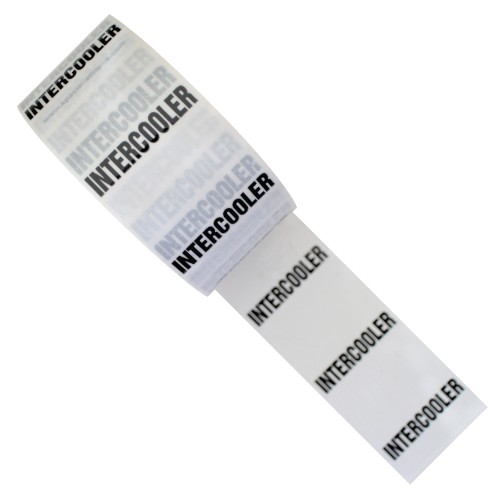 INTERCOOLER - White Printed Pipe Identification (ID) Tape