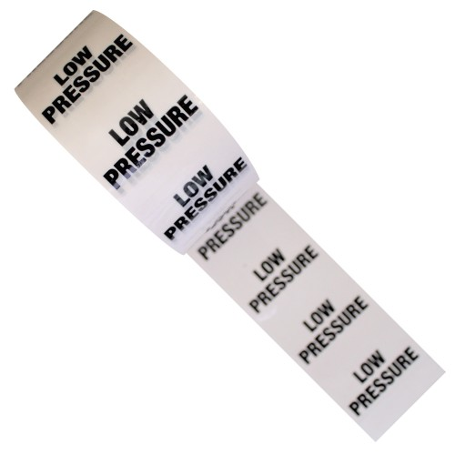 LOW PRESSURE - White Printed Pipe Identification (ID) Tape