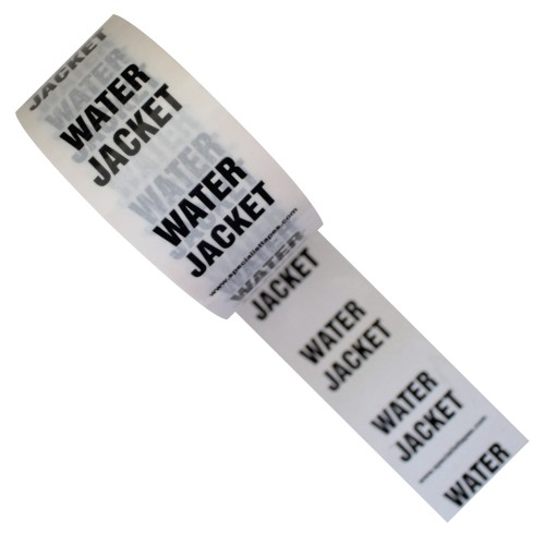 WATER JACKET - White Printed Pipe Identification (ID) Tape