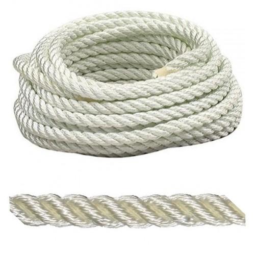 12mm Nylon White Rope (Price per m)