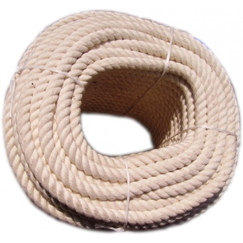 14mm Cotton White Natural Rope (Price per m)