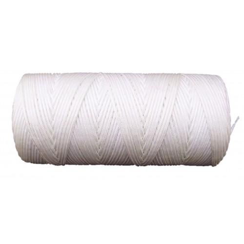 2.5mm Nylon White Braided Nylon Cord/String - 6H
