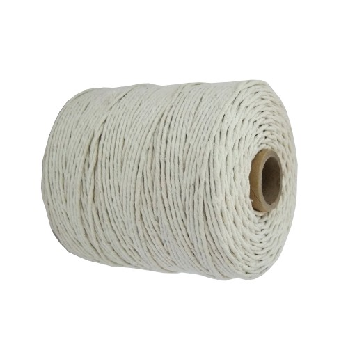 3mm Cotton White Natural Twine/String - Size 1 (Pack of 6 x 85m)