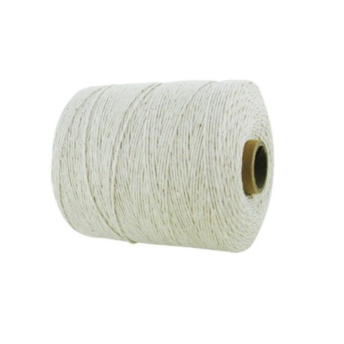 1mm Cotton White Natural Twine/String - Size 104 (Pack of 6 x 605m)