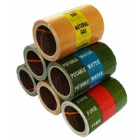 Banded Indoor Pipe ID Tape (114)