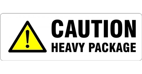 heavy package parcel labels