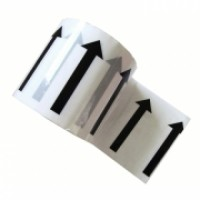 "96mm x 33m (4"") White Printed Indoor Pipe ID Tape (4)"