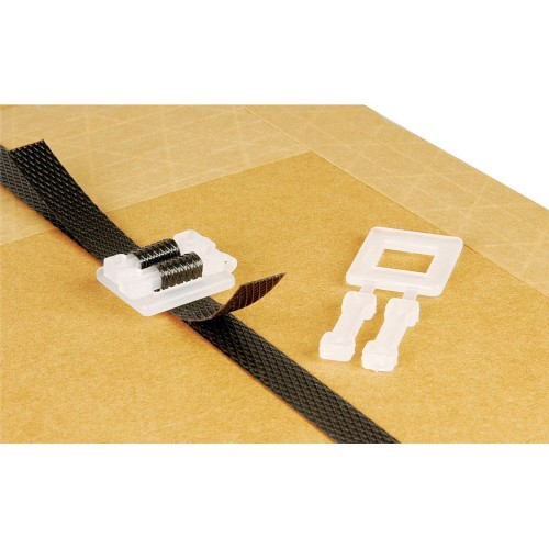 12mm Polypropylene PP Plastic Strapping Buckles (1000pcs)