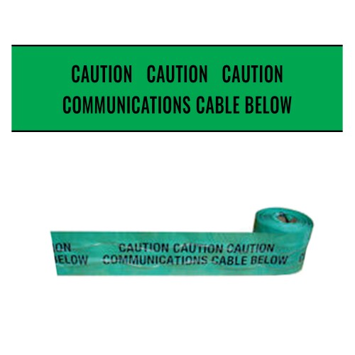 COMMUNICATIONS CABLE BELOW - Premium Detectable Underground Warning Tape