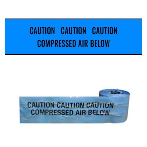 COMPRESSED AIR BELOW (Blue) - Premium Detectable Underground Warning Tape