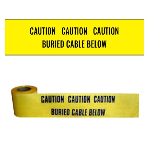 BURIED CABLE BELOW - Premium Underground Warning Tape