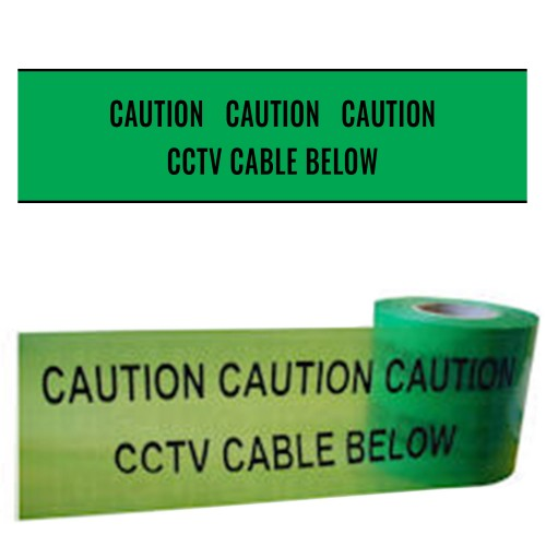 CCTV CABLE BELOW - Premium Underground Warning Tape