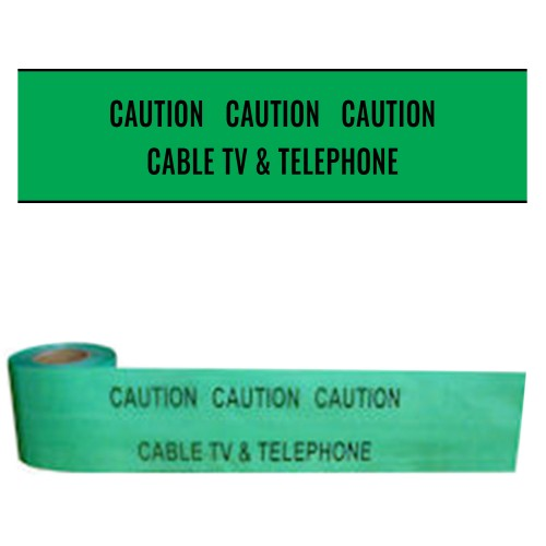 CABLE TV AND TELEPHONE - Premium Underground Warning Tape