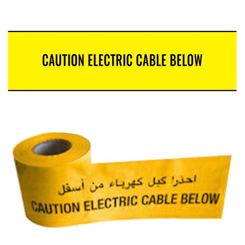 CAUTION ELECTRIC CABLE BELOW (English and Arabic) - Premium Underground Warning Tape