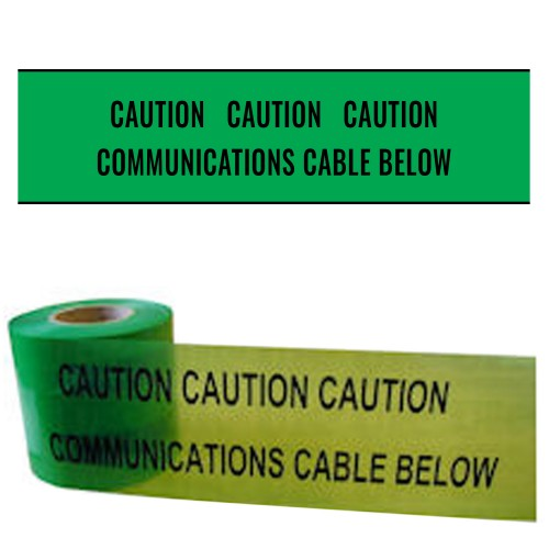 COMMUNICATIONS CABLE BELOW - Premium Underground Warning Tape