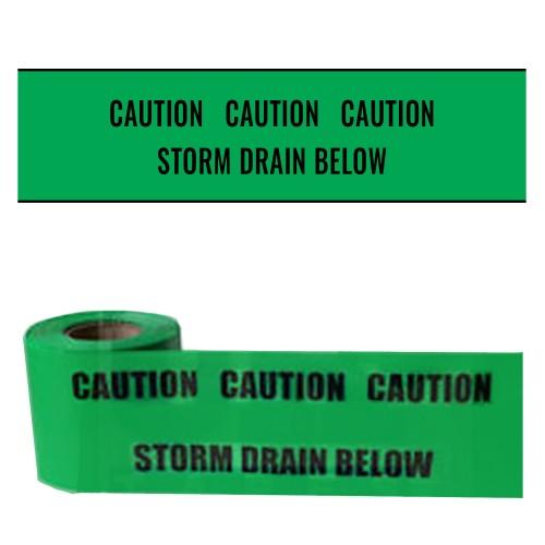 STORM DRAIN BELOW - Premium Underground Warning Tape