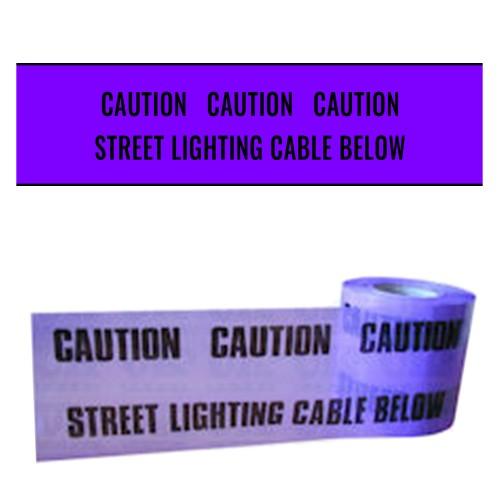 STREET LIGHTING CABLE BELOW - Premium Underground Warning Tape