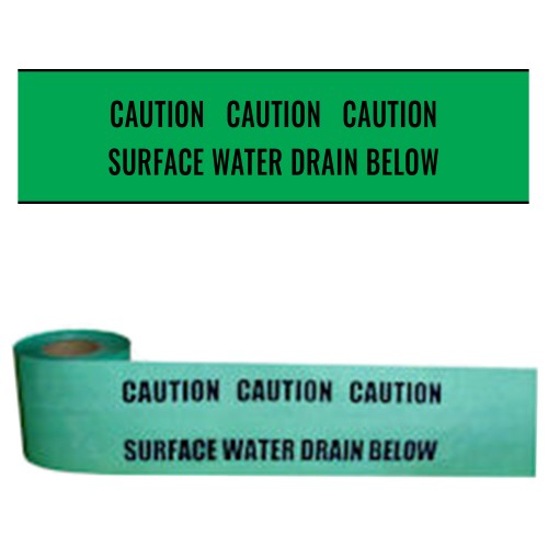 SURFACE WATER DRAIN BELOW - Premium Underground Warning Tape